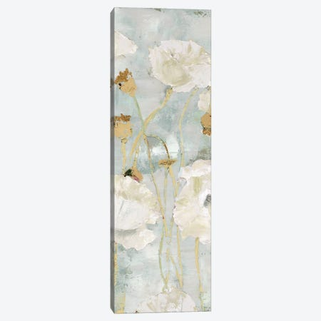 Poppies In The Wind Cream Panel I Canvas Print #MEC24} by Marie Elaine Cusson Canvas Artwork