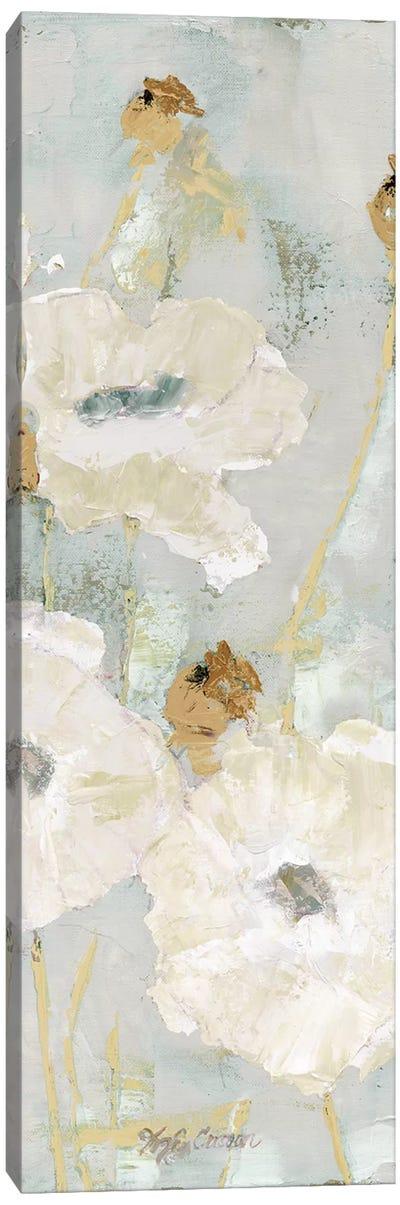 Poppies In The Wind Cream Panel II Canvas Art Print