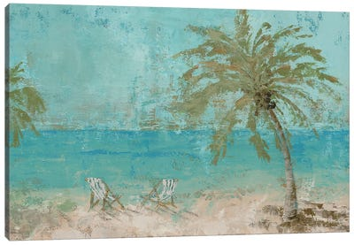Beach Day Landscape I Canvas Art Print
