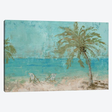 Beach Day Landscape I Canvas Print #MEC2} by Marie Elaine Cusson Canvas Art