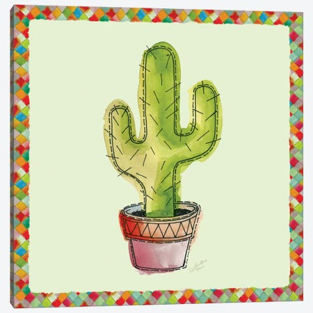 Rainbow Cactus II Canvas Print #MEC30} by Marie-Elaine Cusson Canvas Artwork