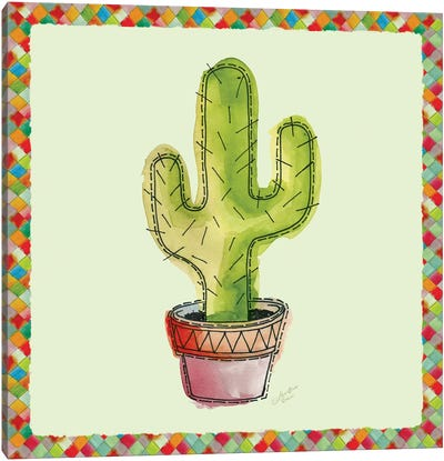 Rainbow Cactus II Canvas Art Print