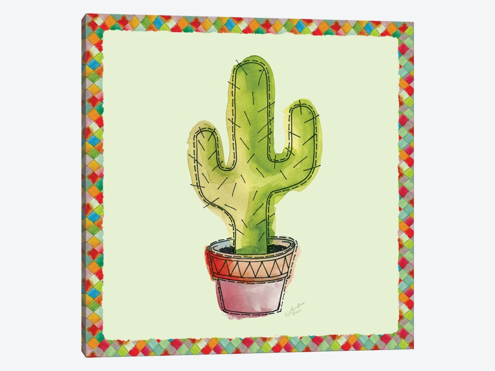 Rainbow Cactus II by Marie-Elaine Cusson 1-piece Canvas Wall Art