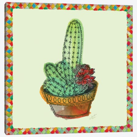 Rainbow Cactus III Canvas Print #MEC31} by Marie-Elaine Cusson Canvas Wall Art