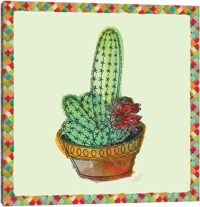 Rainbow Cactus III Canvas Art Print