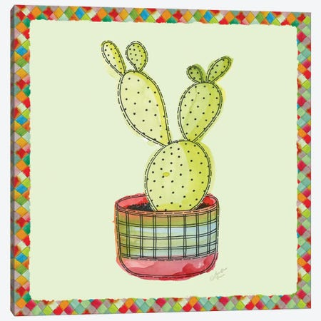 Rainbow Cactus IV Canvas Print #MEC32} by Marie-Elaine Cusson Canvas Art