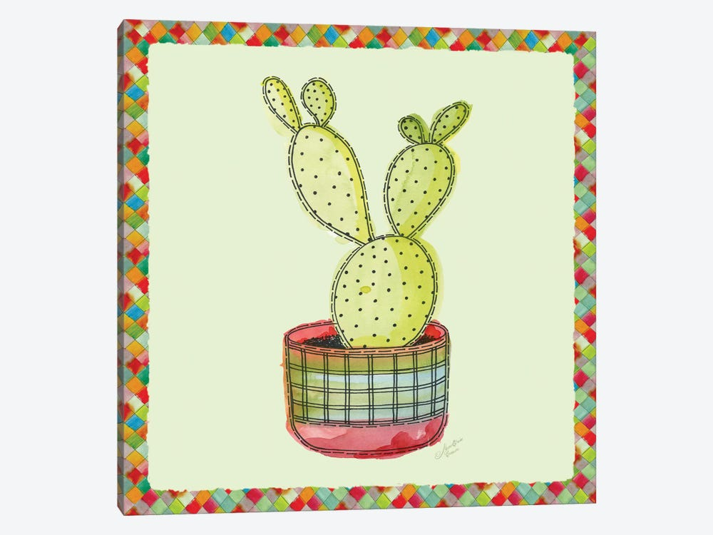 Rainbow Cactus IV by Marie-Elaine Cusson 1-piece Canvas Artwork