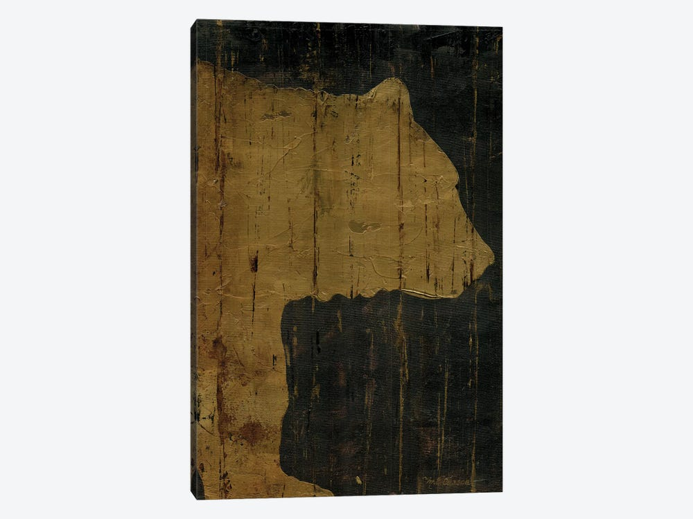 Rustic Lodge Animals Bear by Marie Elaine Cusson 1-piece Canvas Wall Art
