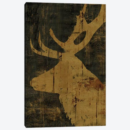 Rustic Lodge Animals Deer Canvas Print #MEC39} by Marie-Elaine Cusson Canvas Wall Art