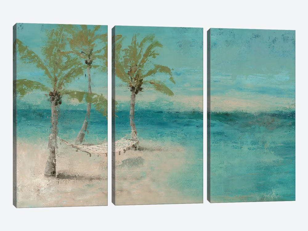 Beach Day Landscape II by Marie Elaine Cusson 3-piece Canvas Artwork