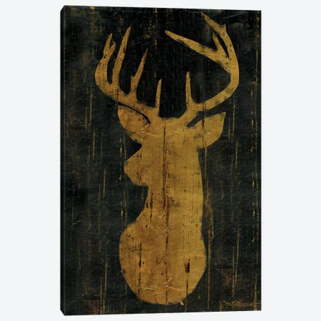 Rustic Lodge Animals Deer Head Canvas Print #MEC40} by Marie-Elaine Cusson Art Print