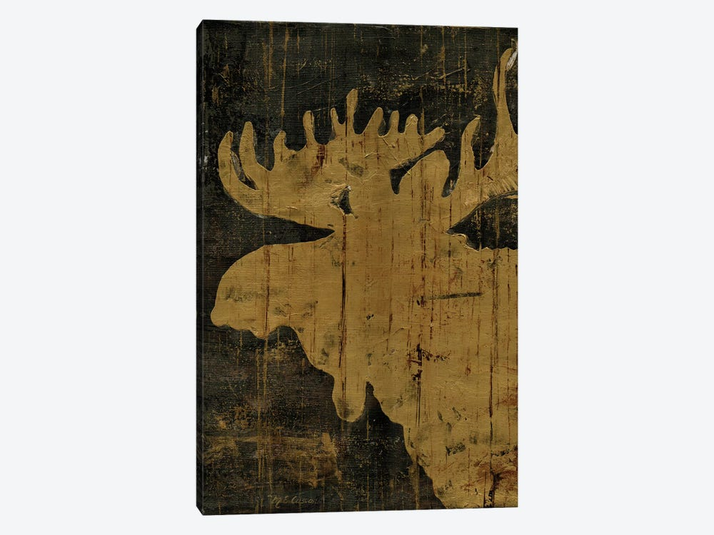 Rustic Lodge Animals Moose by Marie-Elaine Cusson 1-piece Canvas Artwork