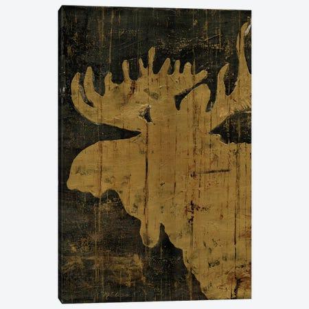 Rustic Lodge Animals Moose 3-Piece Canvas #MEC41} by Marie Elaine Cusson Canvas Print