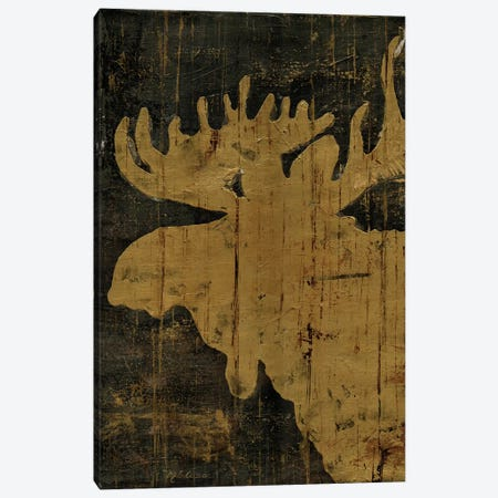 Rustic Lodge Animals Moose Canvas Print #MEC41} by Marie Elaine Cusson Canvas Print