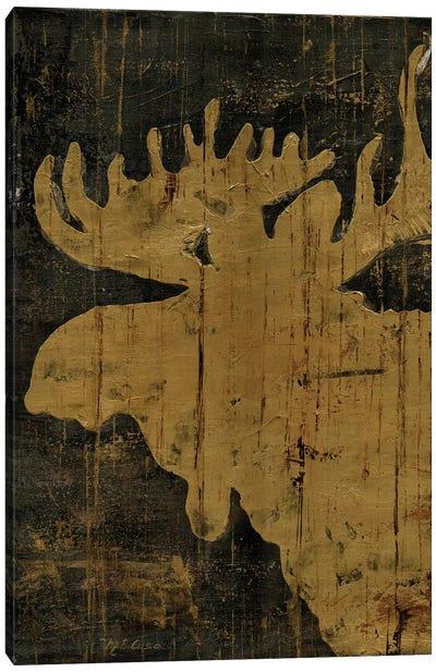 Rustic Lodge Animals Moose Canvas Art Print