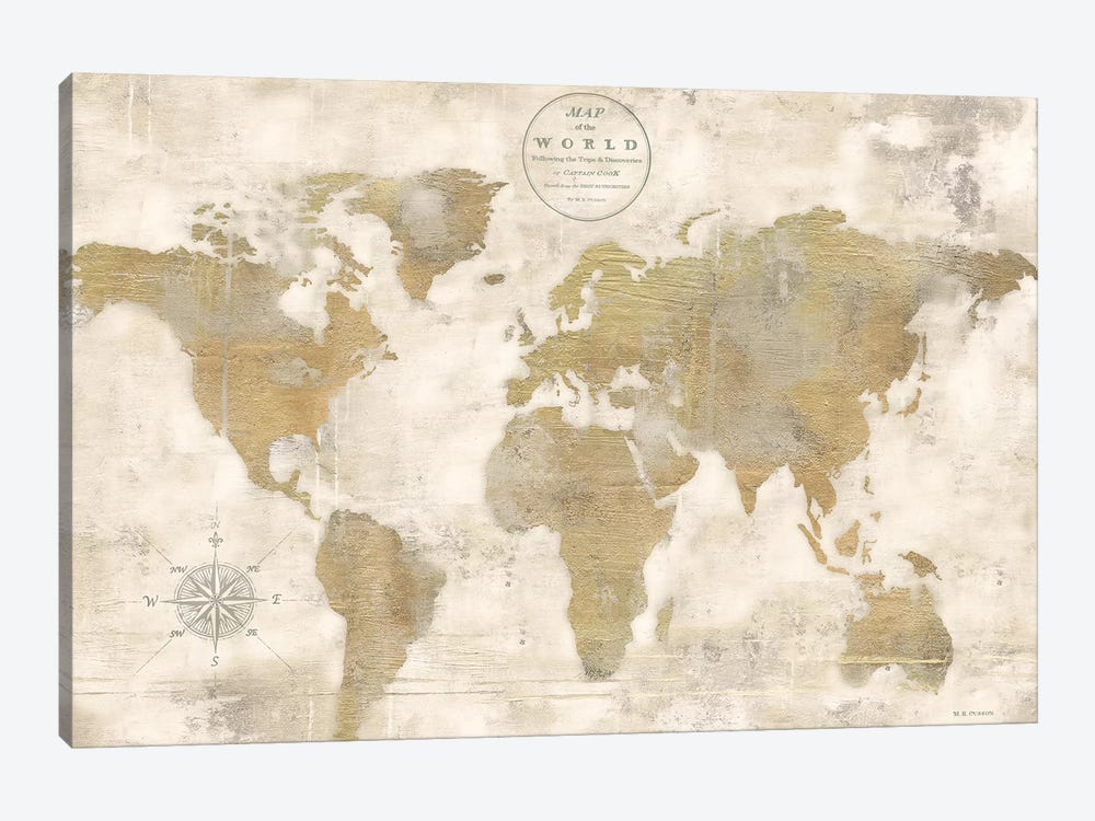 Rustic world map cream no words canvas a marie elaine cusson rustic world map cream no words by marie elaine cusson 1 piece canvas art gumiabroncs Image collections