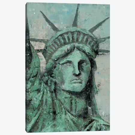 Statue Of Liberty Portrait Canvas Print #MEC46} by Marie Elaine Cusson Canvas Wall Art