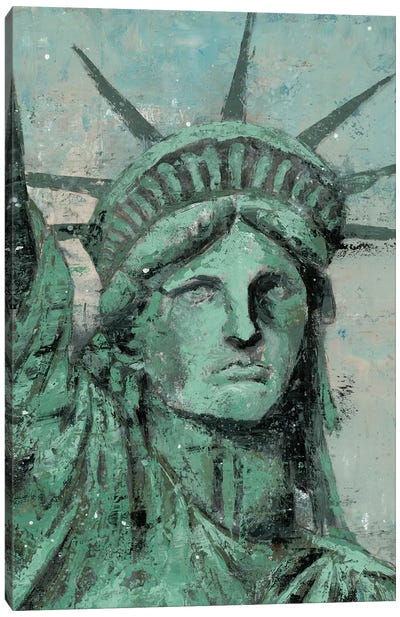 Statue Of Liberty Portrait Canvas Art Print