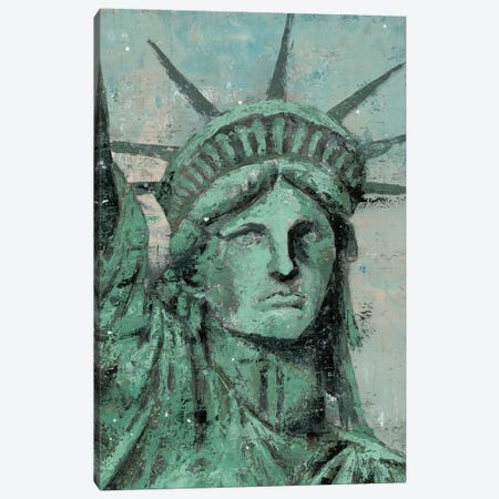 Statue Of Liberty Portrait 3-Piece Canvas #MEC46} by Marie Elaine Cusson Canvas Wall Art