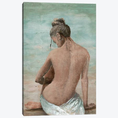 Study Of A Woman I (Head Left) Canvas Print #MEC47} by Marie Elaine Cusson Canvas Wall Art