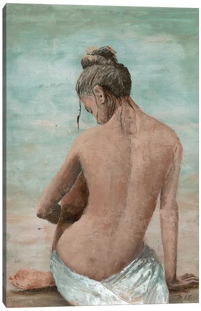 Study Of A Woman I (Head Left) Canvas Art Print