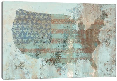 Vintage USA Map Canvas Art Print