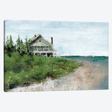 Beach Cottage Life Canvas Print #MEC54} by Marie-Elaine Cusson Canvas Print
