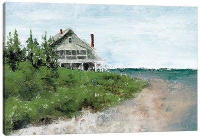 Beach Cottage Life Canvas Art Print