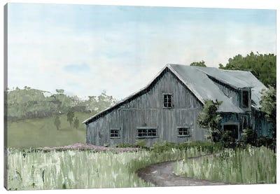 Flower Field Barn Canvas Art Print