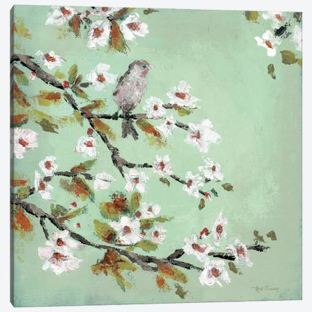 Morning Songbird Canvas Print #MEC59} by Marie Elaine Cusson Canvas Artwork