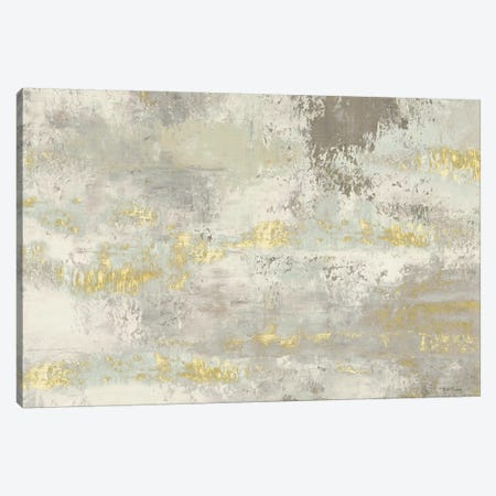 Blooming Day Golden Grey Canvas Print #MEC5} by Marie-Elaine Cusson Canvas Art Print