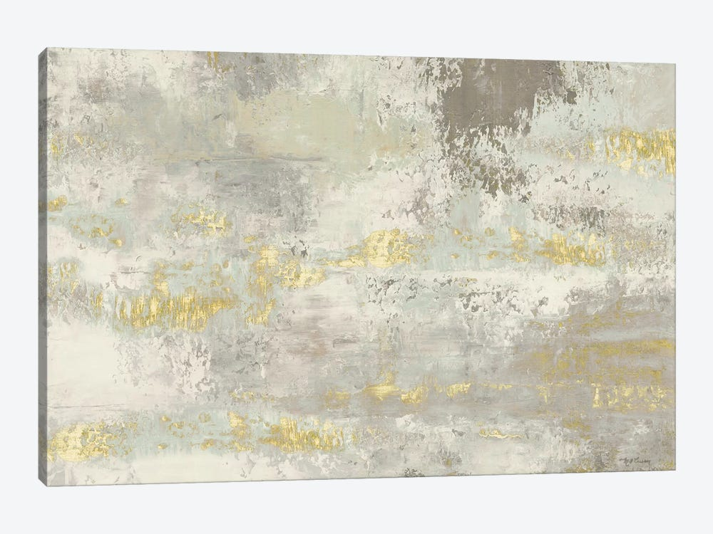 Blooming Day Golden Grey by Marie-Elaine Cusson 1-piece Canvas Wall Art