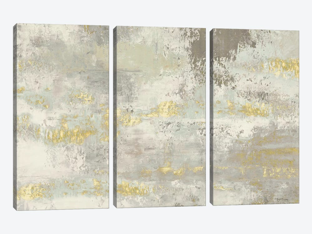 Blooming Day Golden Grey by Marie-Elaine Cusson 3-piece Canvas Art