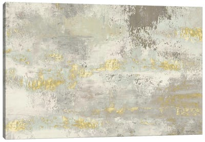 Blooming Day Golden Grey Canvas Art Print