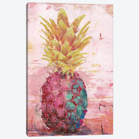 Painted Pineapple I 3-Piece Canvas #MEC61} by Marie Elaine Cusson Canvas Print