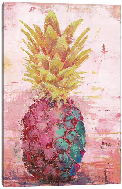 Painted Pineapple I Canvas Art Print