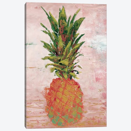 Painted Pineapple II 3-Piece Canvas #MEC62} by Marie Elaine Cusson Canvas Art Print