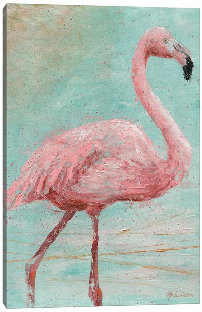 Pink Flamingo I Canvas Art Print