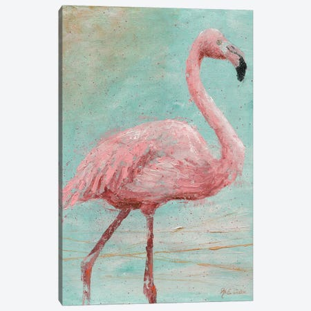 Pink Flamingo I Canvas Print #MEC63} by Marie Elaine Cusson Art Print