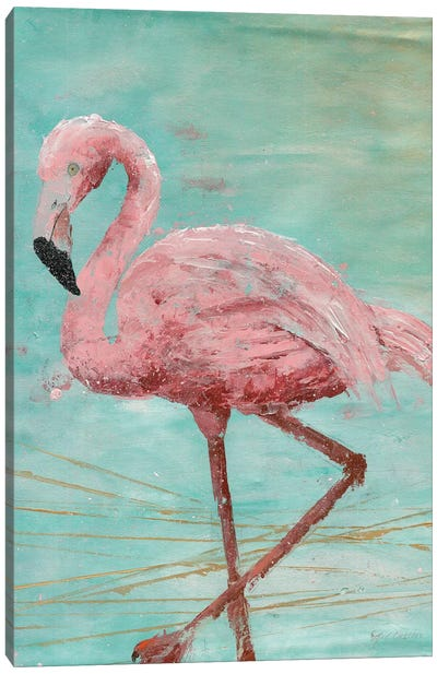 Pink Flamingo II Canvas Art Print