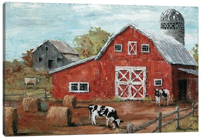Red Country Barn Canvas Art Print