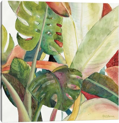 Tropical Lush Garden square I Canvas Art Print