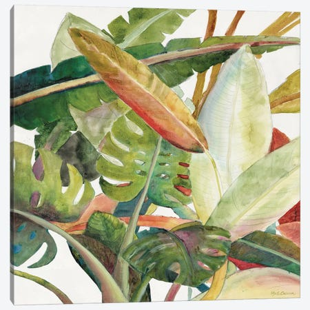 Tropical Lush Garden Square II Canvas Print #MEC68} by Marie-Elaine Cusson Canvas Art Print