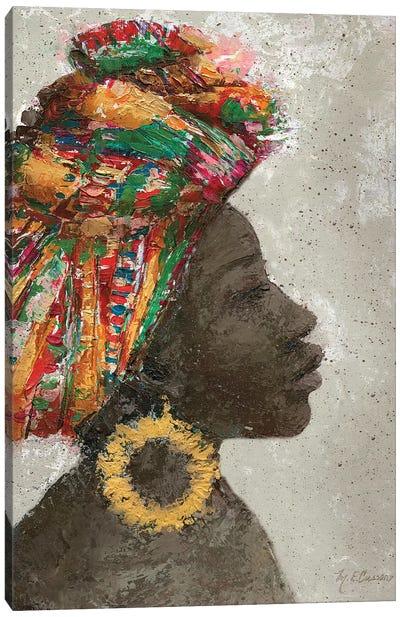 Portrait of a Woman I (gold hoop) Canvas Art Print