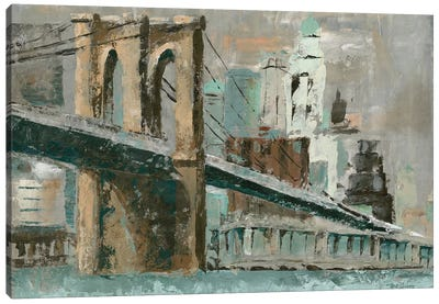 Brooklyn Bridge Cityscape Canvas Art Print