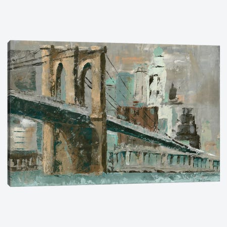 Brooklyn Bridge Cityscape Canvas Print #MEC7} by Marie Elaine Cusson Canvas Art Print