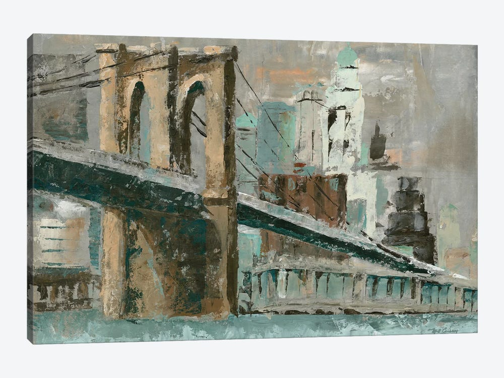 Brooklyn Bridge Cityscape by Marie Elaine Cusson 1-piece Canvas Wall Art