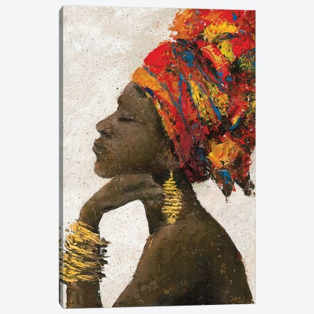 Portrait of a Woman II (gold bracelets) Canvas Print #MEC80} by Marie Elaine Cusson Canvas Art Print