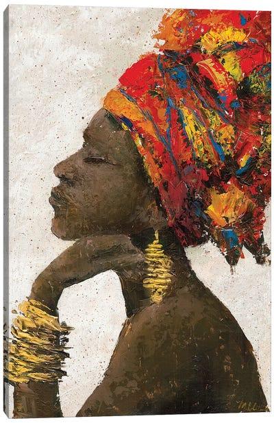 Portrait of a Woman II (gold bracelets) Canvas Art Print