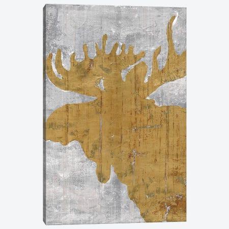 Rustic Lodge Animals Moose on Grey Canvas Print #MEC84} by Marie Elaine Cusson Canvas Artwork